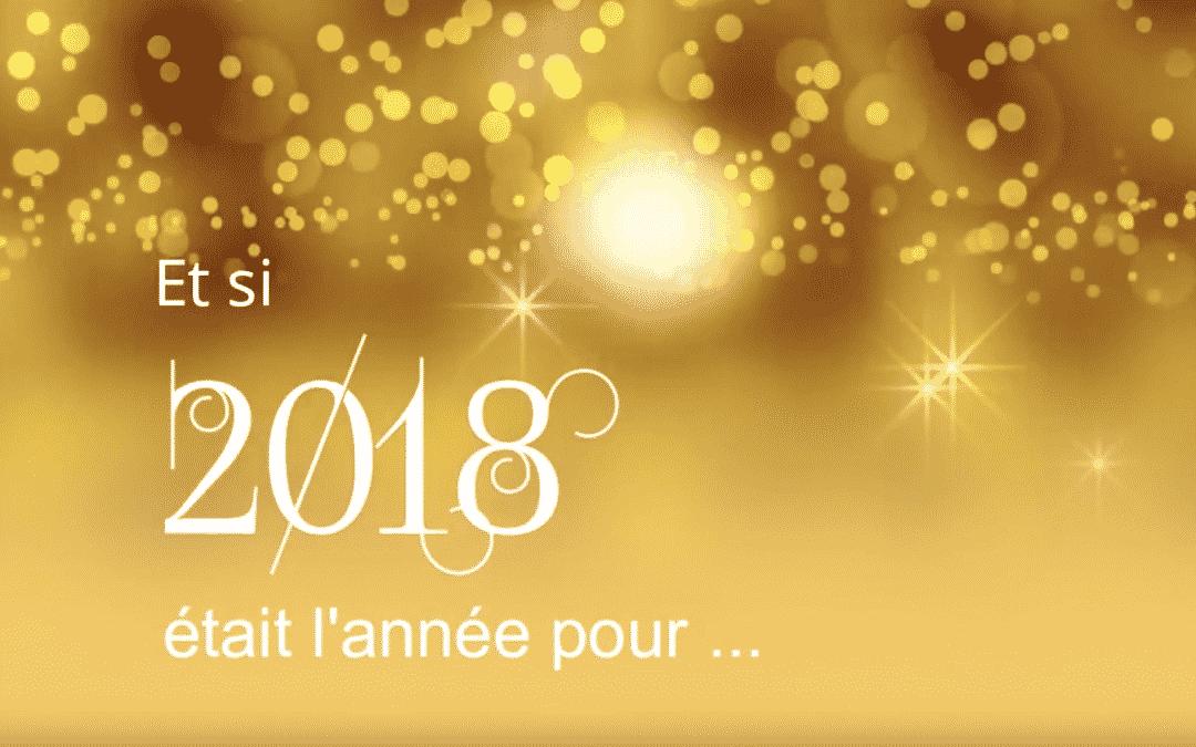Je vous souhaite une belle année 2018