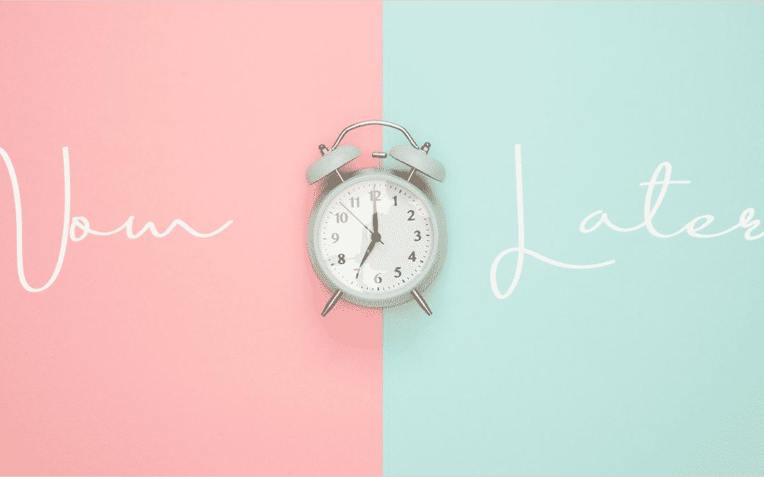 Pandémie et procrastination