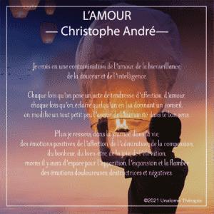 Citation inspirante de Christophe André